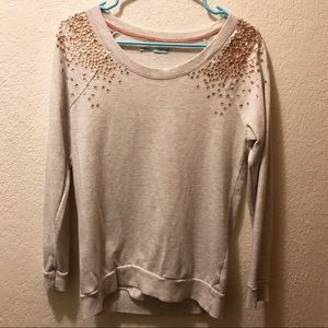 Rose Gold Sequin Sweater
